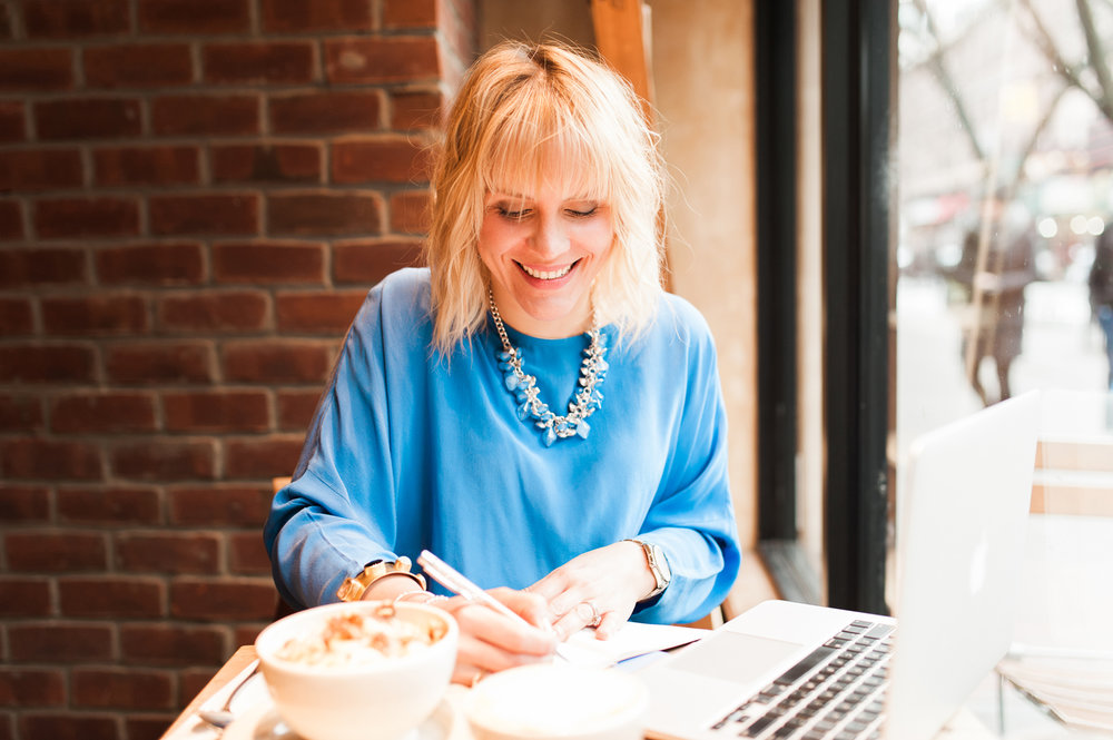 Nadia Koski Brooklyn Heights Lifestyle Branding Photo Session NYC at Le Pain Quotidien Lindsey Victoria Photography
