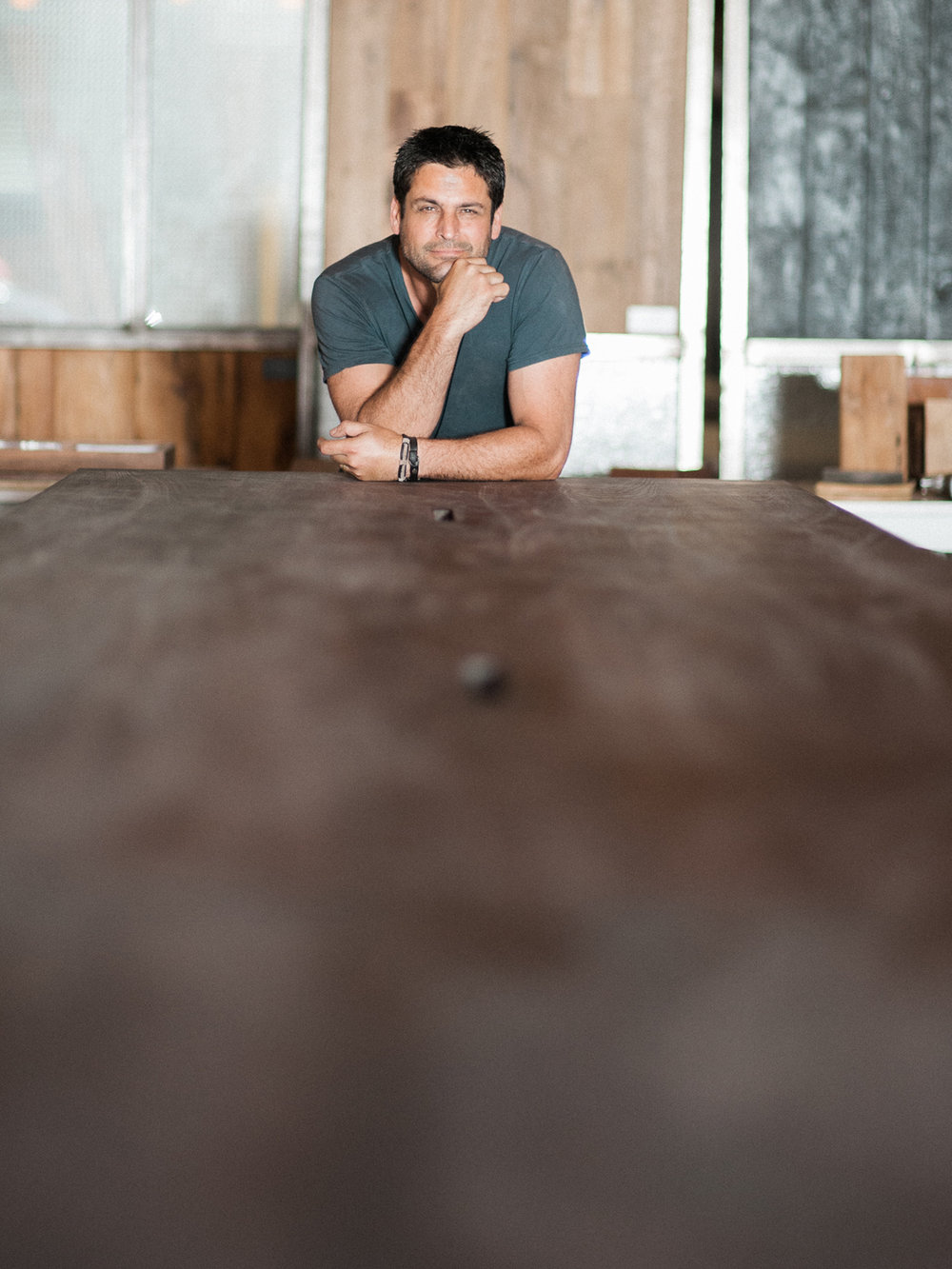 Mark Jupiter Designs DUMBO Brooklyn, NY custom board room table branding photo