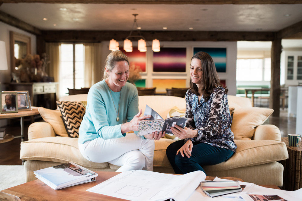 Karen Davis, Davis Raines Design Lifestyle Branding behind the scenes images at work with client in South Kent Litchfield County Connecticut CT by Lindsey Victoria Photography