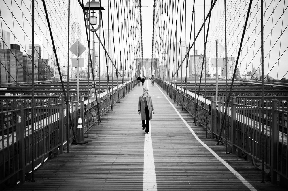 Nadia Koski Brooklyn Bridge Sunrise Branding Photo black and white Lindsey Victoria Lifestyle Photography