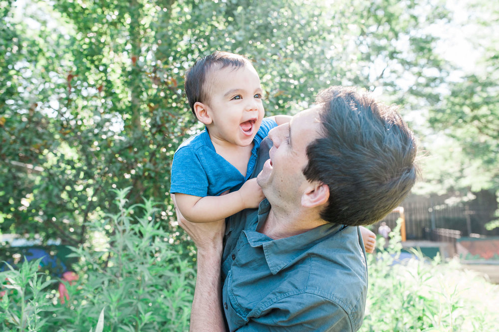 Brooklyn NY family photographer lifestyle session in Cobble Hill neighborhood by Lindsey Victoria Photography Dad and son