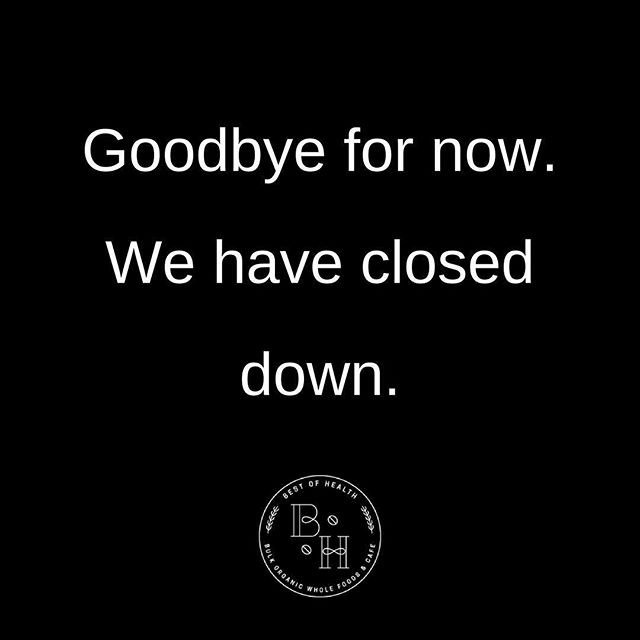 It saddens us to say that Best of Health has now closed. We would like to extend a big thank you to our loyal customers for their endless support. Our passion for health foods and a healthy lifestyle will never fade but for now it's time for us to say Goodbye ♥️👋