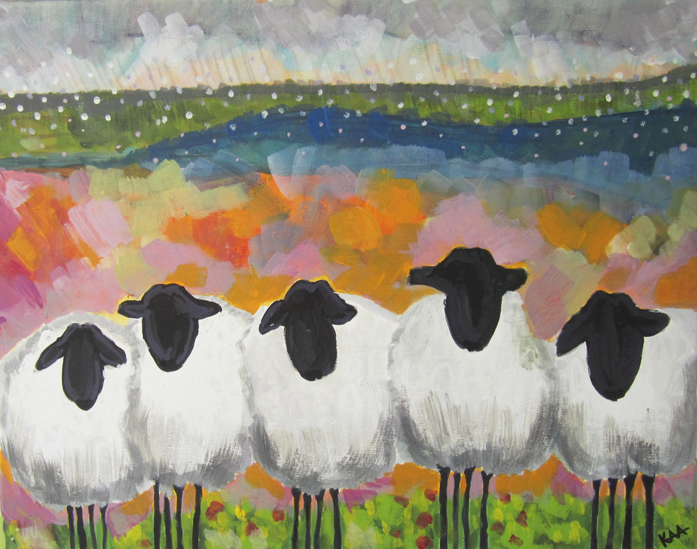 Rain Huddle-SOLD