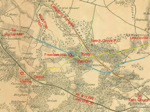 Freedom Hill area (from McDowell Map)