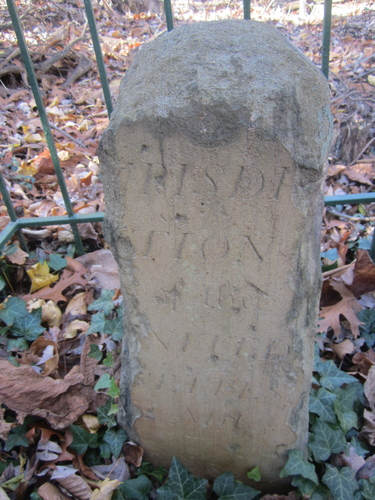 Boundary stone NW2 in McLean, Virginia. Photo: Stephen Powers.