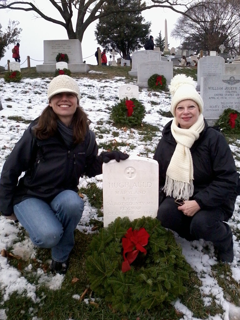 Laying wreaths at Arlington National Cemetery