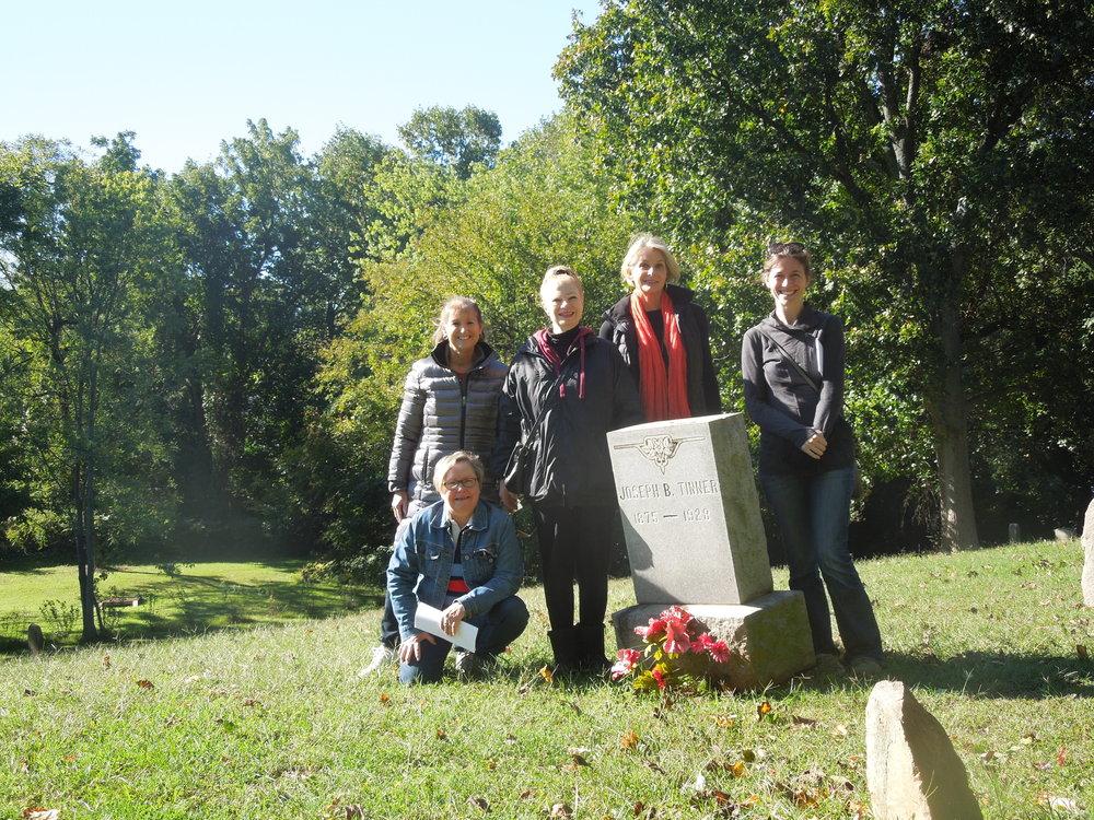 Transcribing gravestones, Falls Church, VA