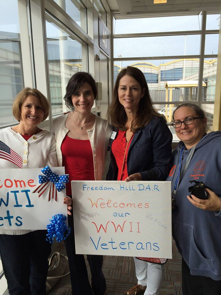Greeting veterans at DCA