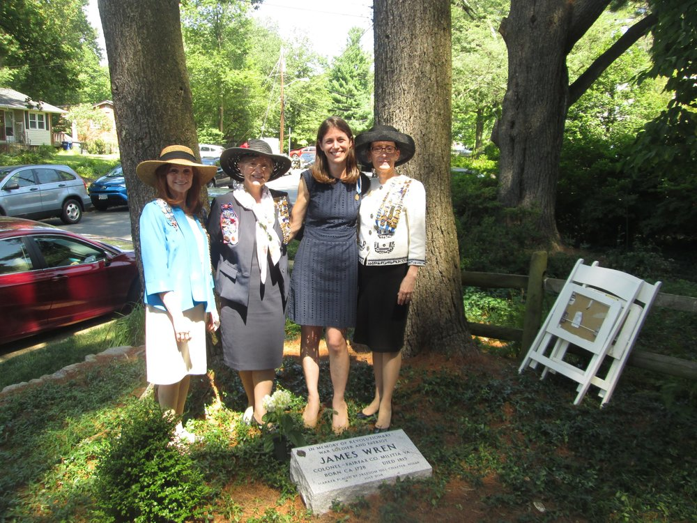 Grave marking ceremony, Wren-Darne Family Cemetery, July 2018