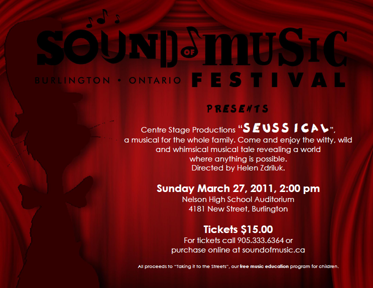 Seussical Sound of Music E-Letter
