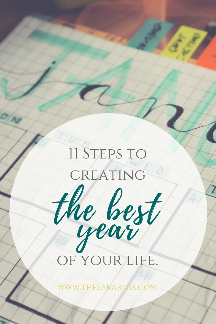 New Years Resolution - Goal Setting: 11 Steps To Creating The Best Year Of Your Life | www.thesaraross.com