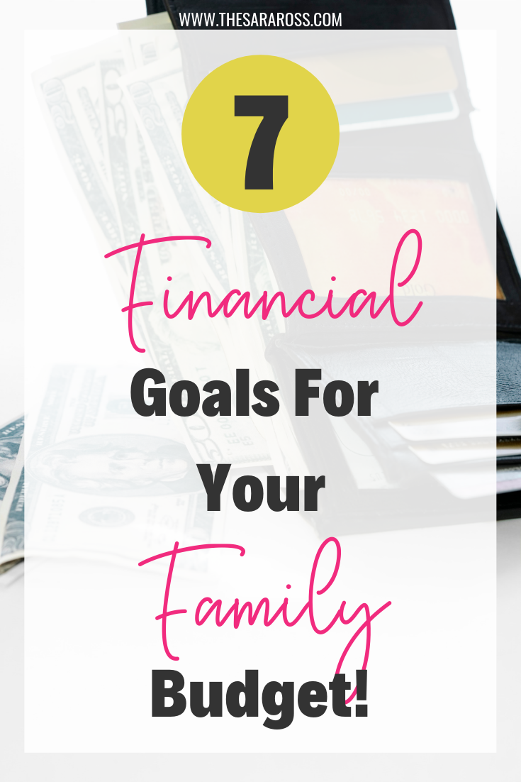 7 Financial Goals For Your Family Budget! Why do you need financial goals? How do you achieve your goals? Using Dave Ramsey's baby steps finding financial peace is possible. #financialgoals #daveramsey #familybudget