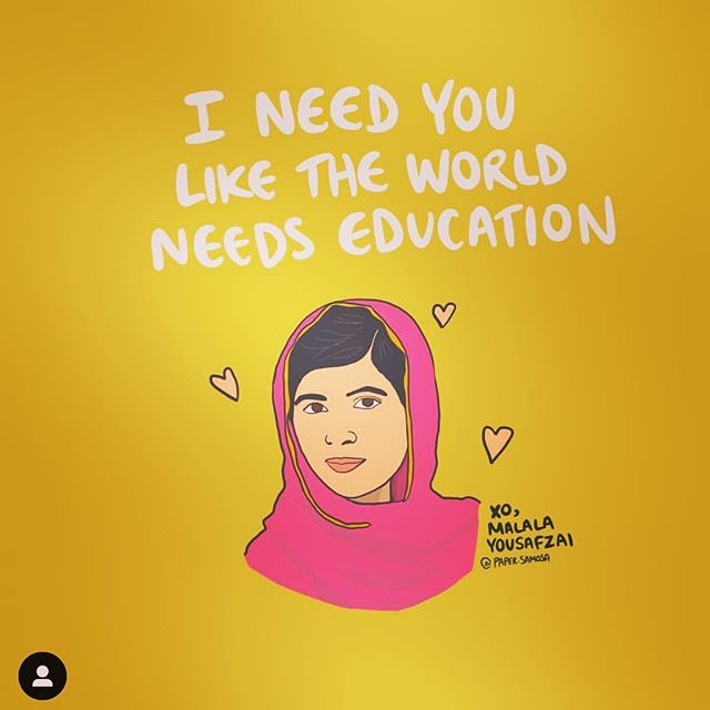 Happy Sunday folks! Loving this message put out by @paper.samosa ❤️; thank you for this🙏🏽🦋! As you all know, @nuriyahofficial we do everything we can to create a sustainable business that gives back to @malalafund frequently.  We will continue to strive toward creating more pieces that you love so we can spread this message of love for every girl..educate a girl and change the world 🌎❤️. Stay tuned!