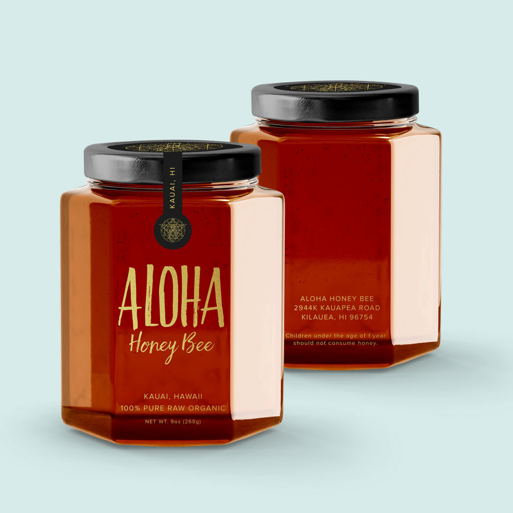 – Aloha Honeybee –    Branding, Packaging