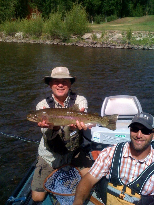 Streamer fishing Gunnison river