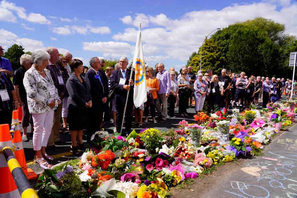 Attendees of the Rotary District 9930 conference show their support and grief at the tragic events on Saturday.