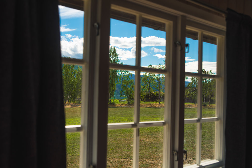 View from one of the cabins