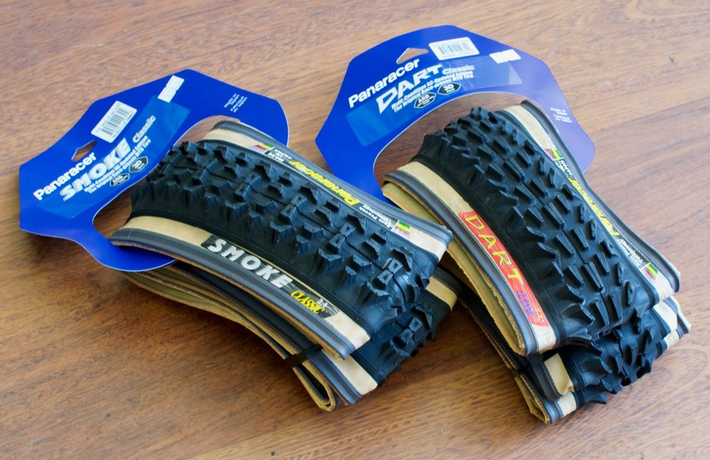 Panaracer Smoke and Dart tires are available to order.