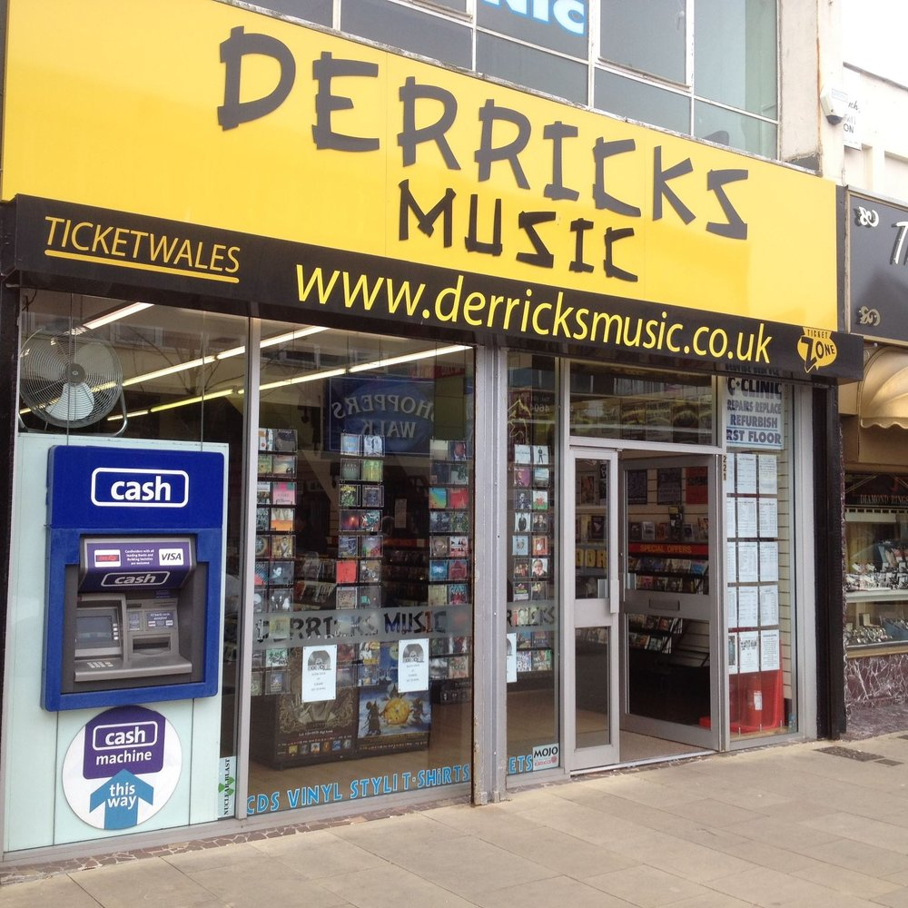 Derricks Music - record shop / gig tickets