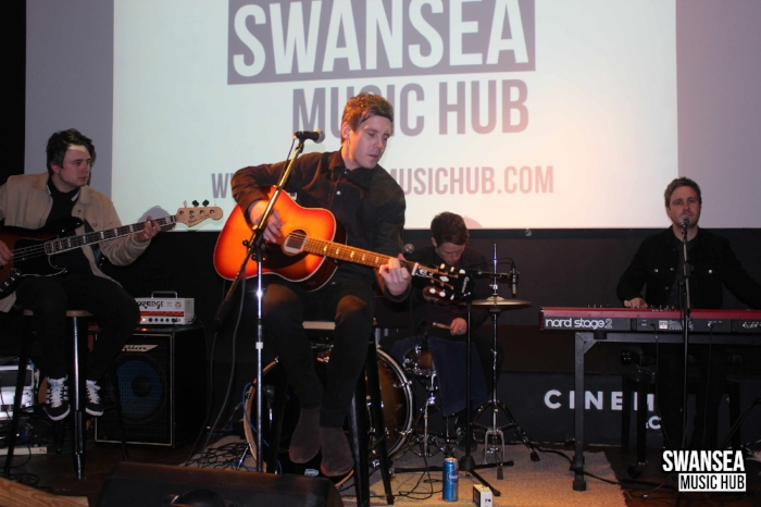 The Riff Playing at the Swansea Music Hub's first Swansea Musician's Forum in Cinema & Co.