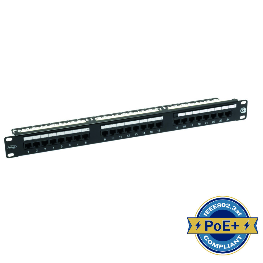 779333_1 Cat 6 UTP 24 Port Rear Punch Patch Panel (Front with PoE).jpg