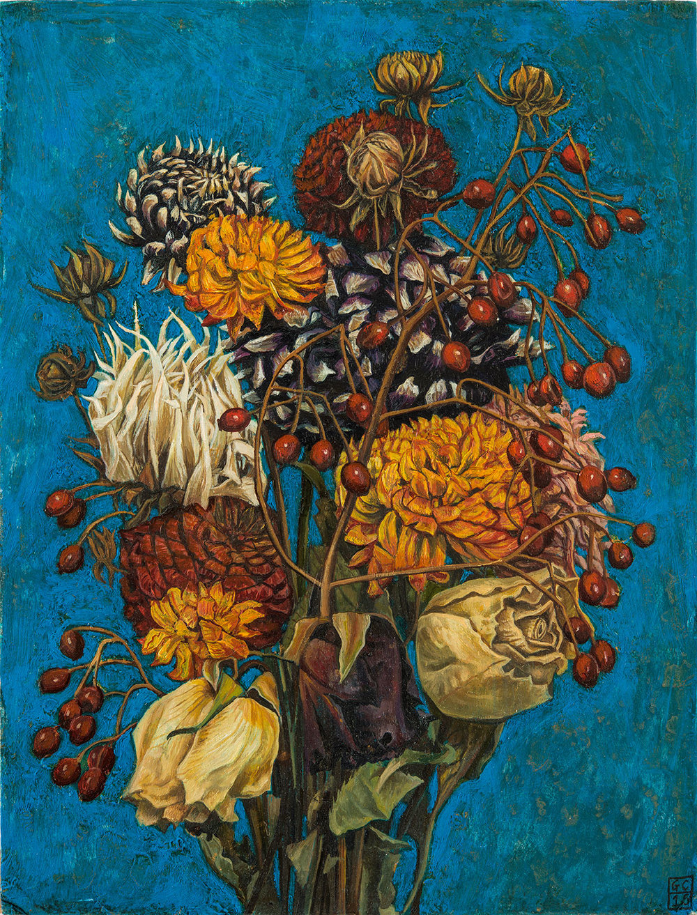 'Autumn Bouquet', Oil on Card, 25cm x19cm , 2015 SOLD