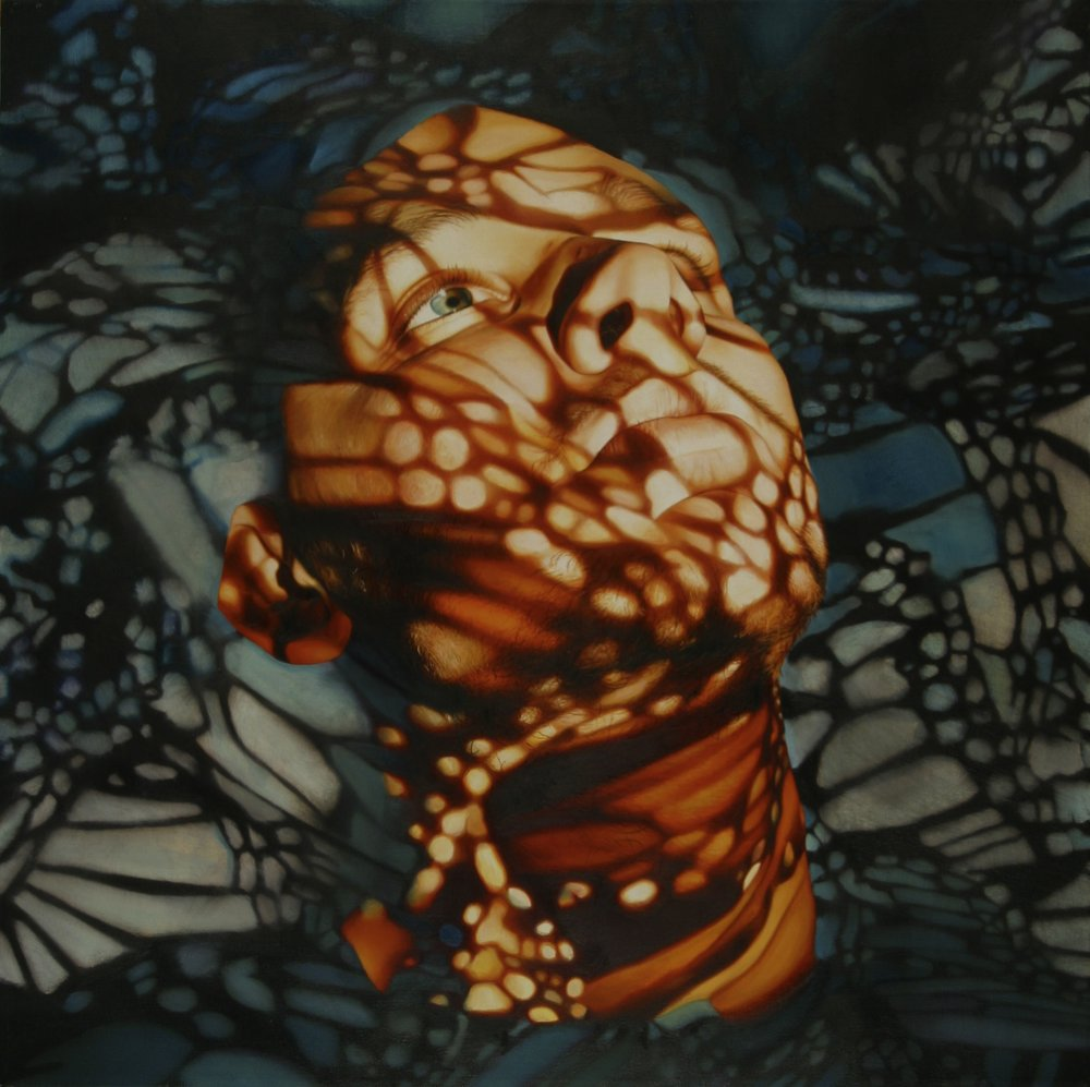 'Into the Light', 60cm x60cm ,Oil on Canvas, 2003