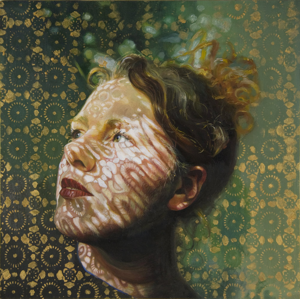 'Donna', 25cm x25cm, Oil on Board, 2007