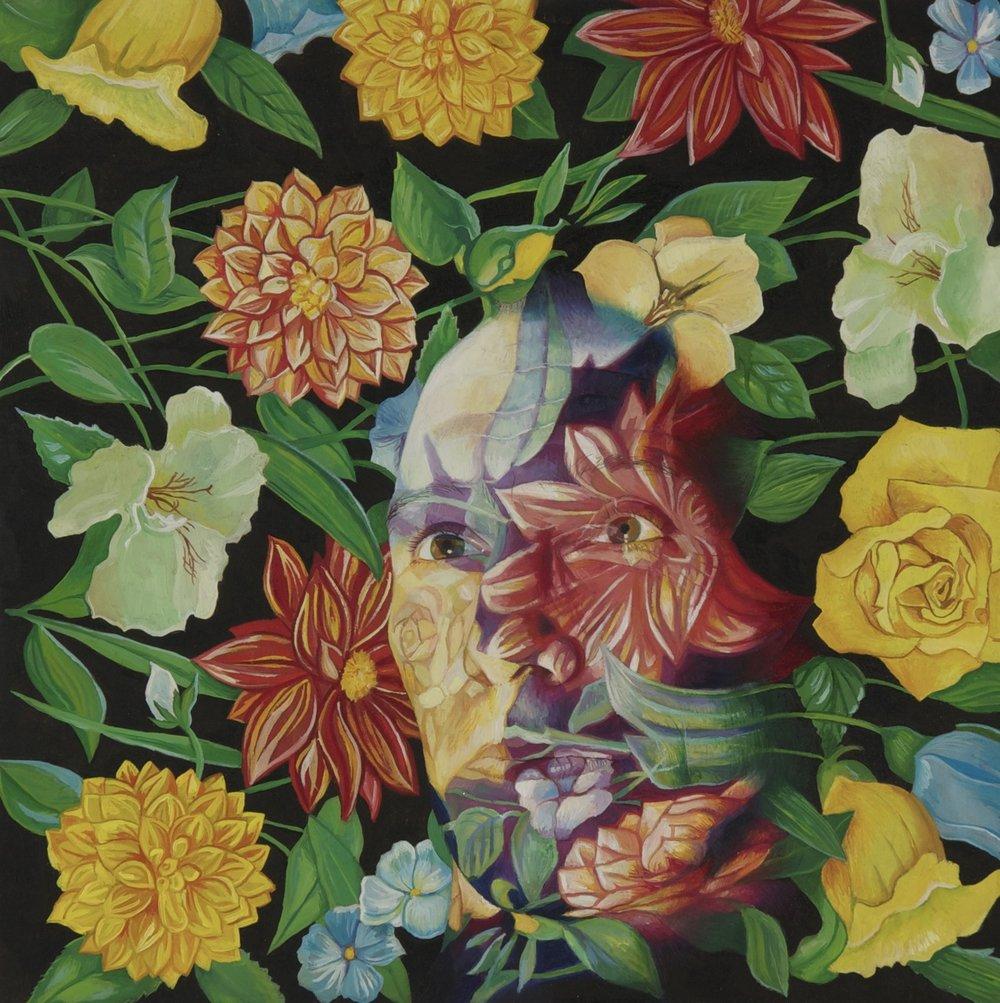 'Flowerhead' 25cm x25cm, Oil on Board, 2010.jpg