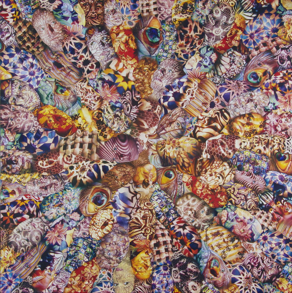 'Kaleidoscope', 100cm x 100cm, Oil on Canvas, 2010