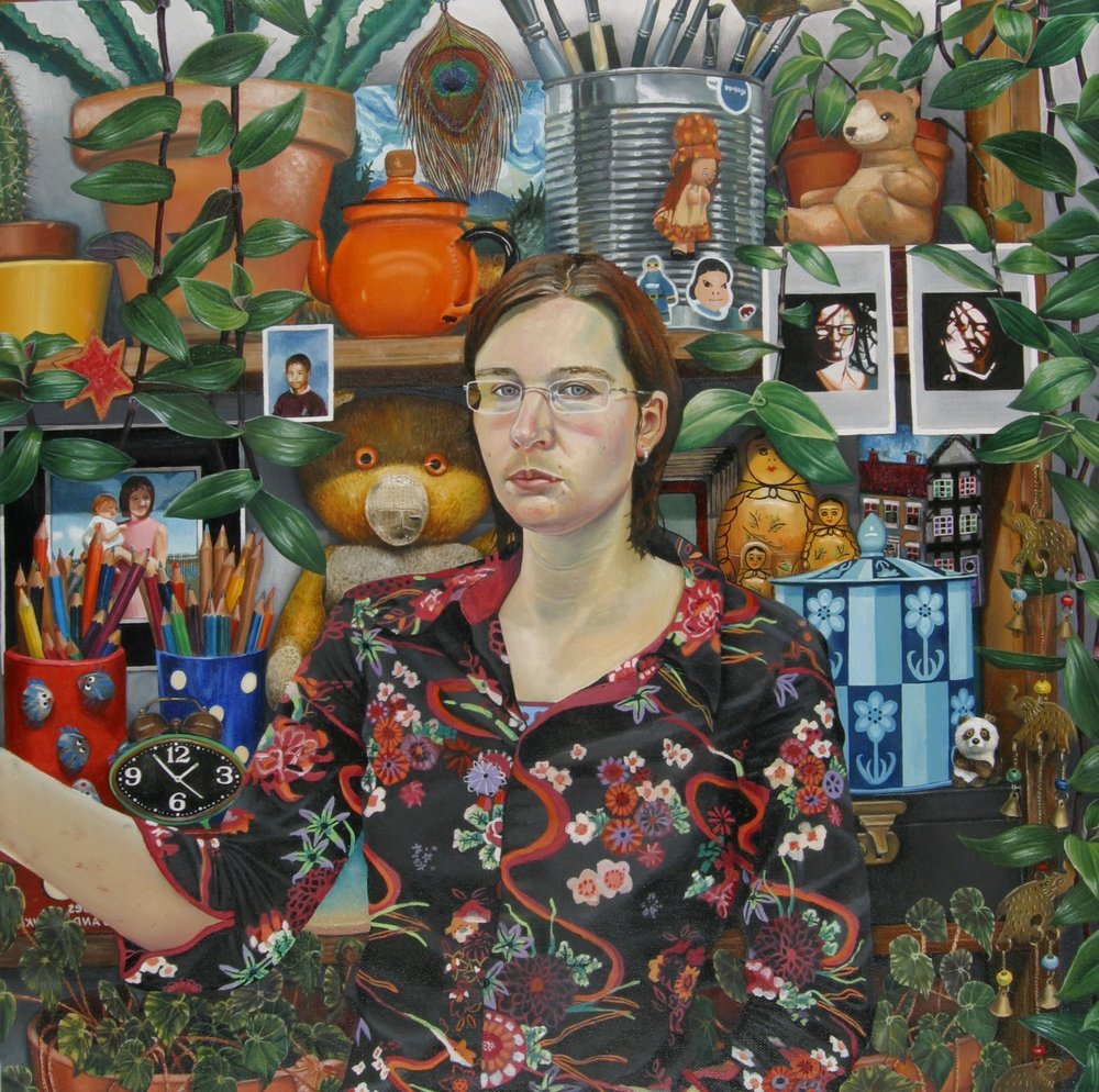 Self Portrait , 60cm x60cm, Oil on Canvas, 2004