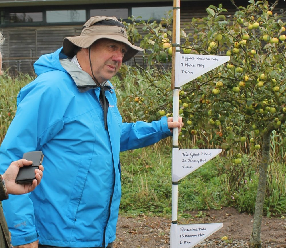 Rick Turner leading guided walk at History Day, 2016.