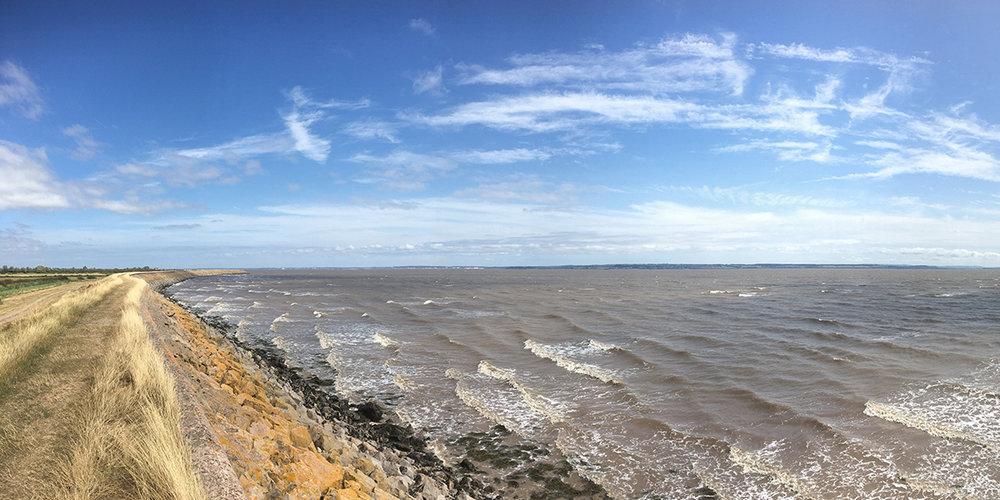 High tide, Goldcliff