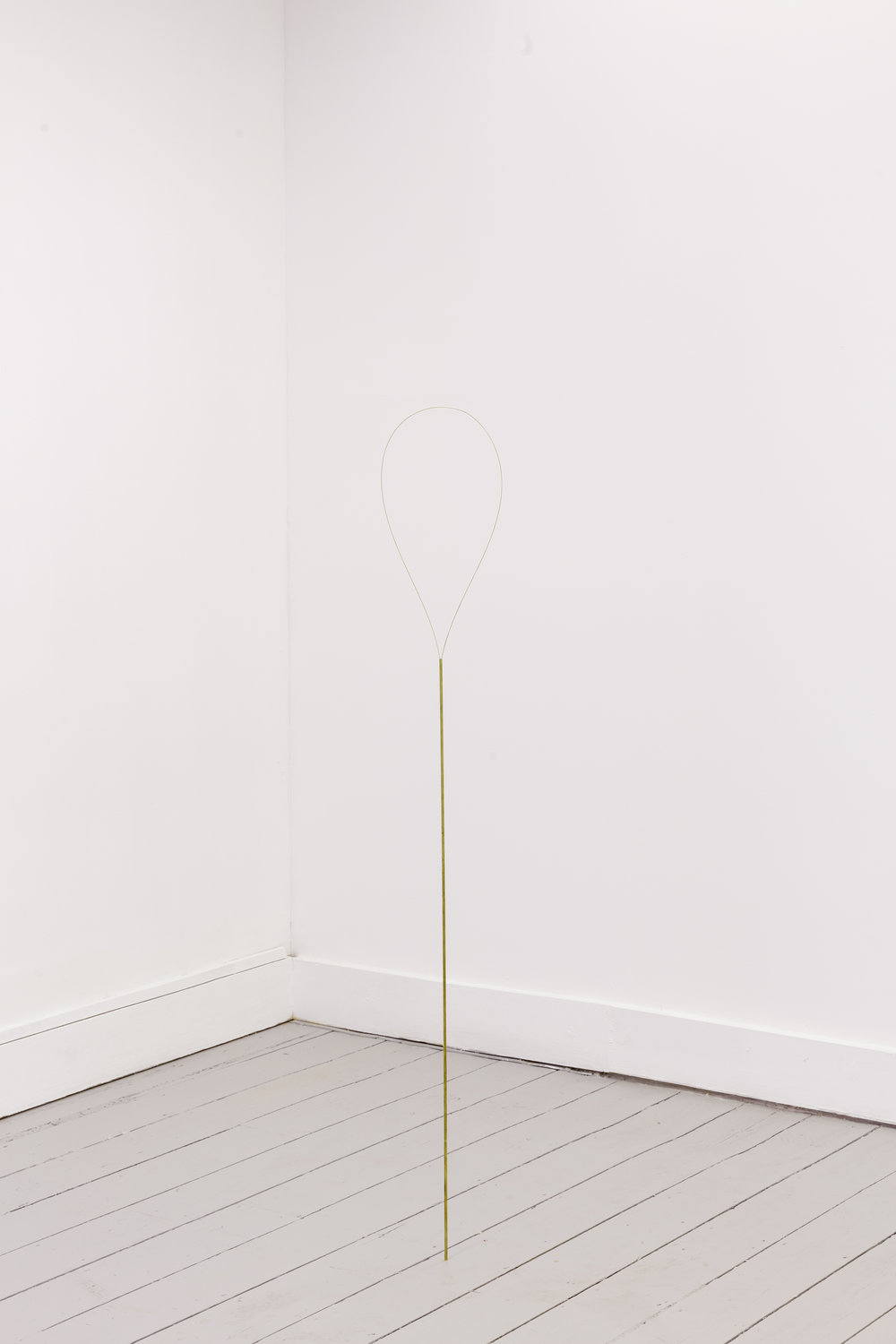 Joana Escoval, I forgot to go to school yesterday (discharged), 2016. Brass. Photo Tim Bowditch.