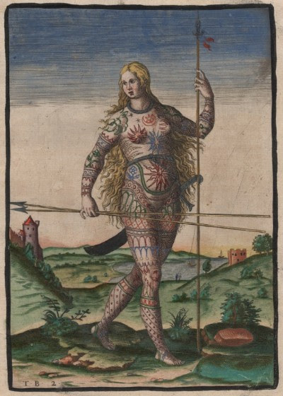 Theodor de Bry,  The True Picture of a Woman Pict , 1585