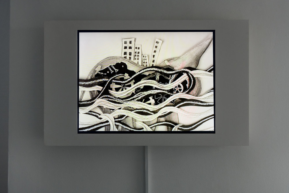 Tejal Shah. Between the Waves, 2012. Channel III, Animation. Photo: Damian Griffiths. Image courtesy the artist, Project 88, Mumbai, and Barbara Gross Gallery, Munich