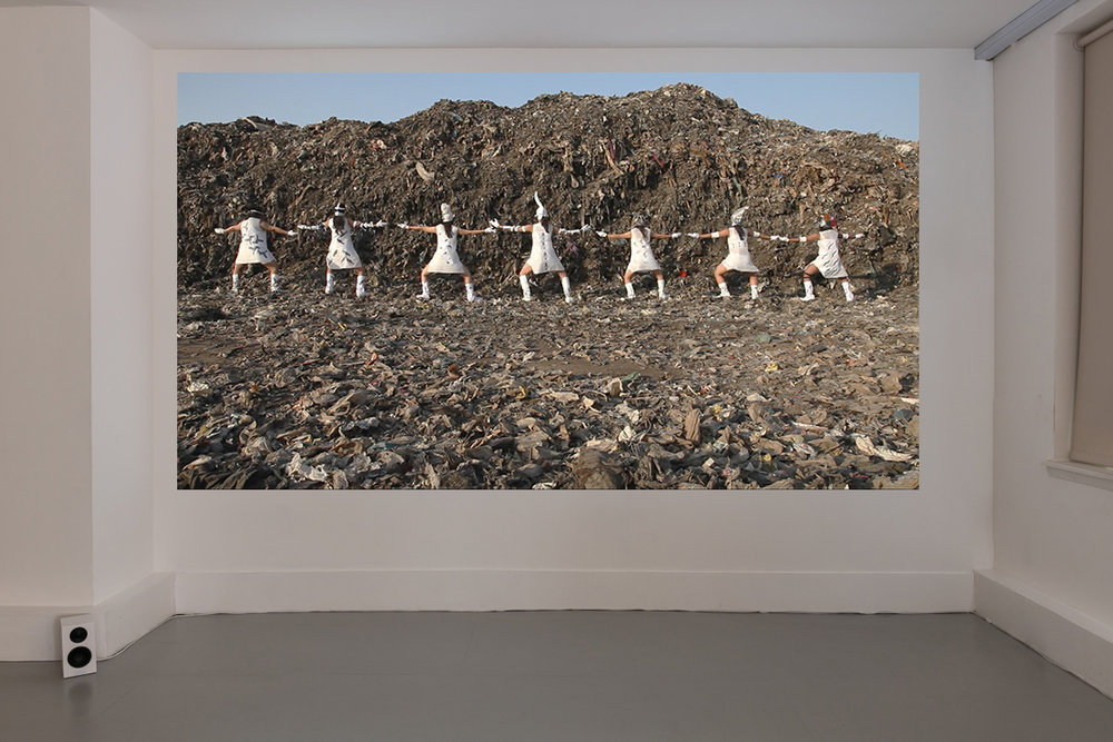 Tejal Shah, Between the Waves, 2012. Channel II, Landfill Dance. Photo: Damian Griffiths. Image courtesy the artist, Project 88, Mumbai, and Barbara Gross Gallery, Munich