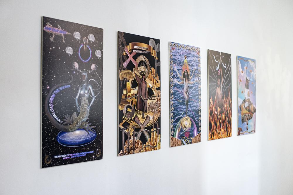 Tabita Rezaire, INNER FIRE, 2016-7, 5 diasec prints 60 x 36cm, courtesy of the artist and Goodman Gallery. Photo Katarzyna Perlak