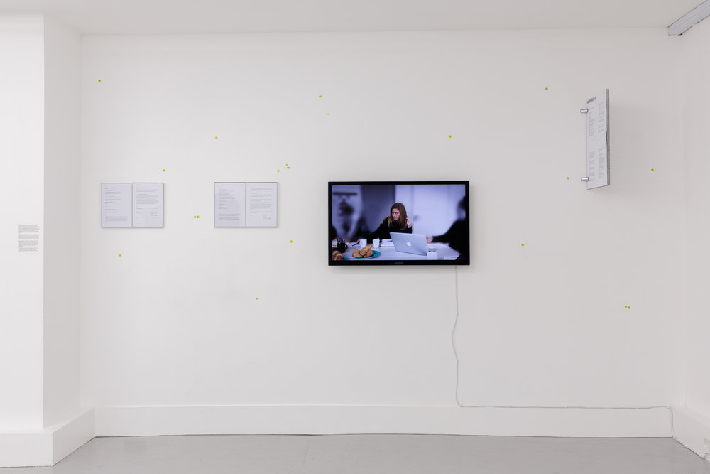 Georgia Sagri, Georgia Sagri as Georgia Sagri (still without being paid as an actress), 2016. Courtesy of Anthony Reynolds Gallery, London. Photo: Tim Bowditch