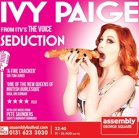 It's happening this week! @underbellyfest 30th May 9.30pm. So make a date to come see me in my saucy new show. Exploring the world of seduction you can see for yourselves why I  got the nation so hot under the collar on @itv @thevoiceuk @ollymurs #ivypaige #cabaret #booktickets copy and paste the link below for tickets http://www.underbellyfestival.com/whats-on/ivy-paige-seduction-preview-show #burlesque #redheadsdoitbetter #livemusic #singer #jessicarabbit