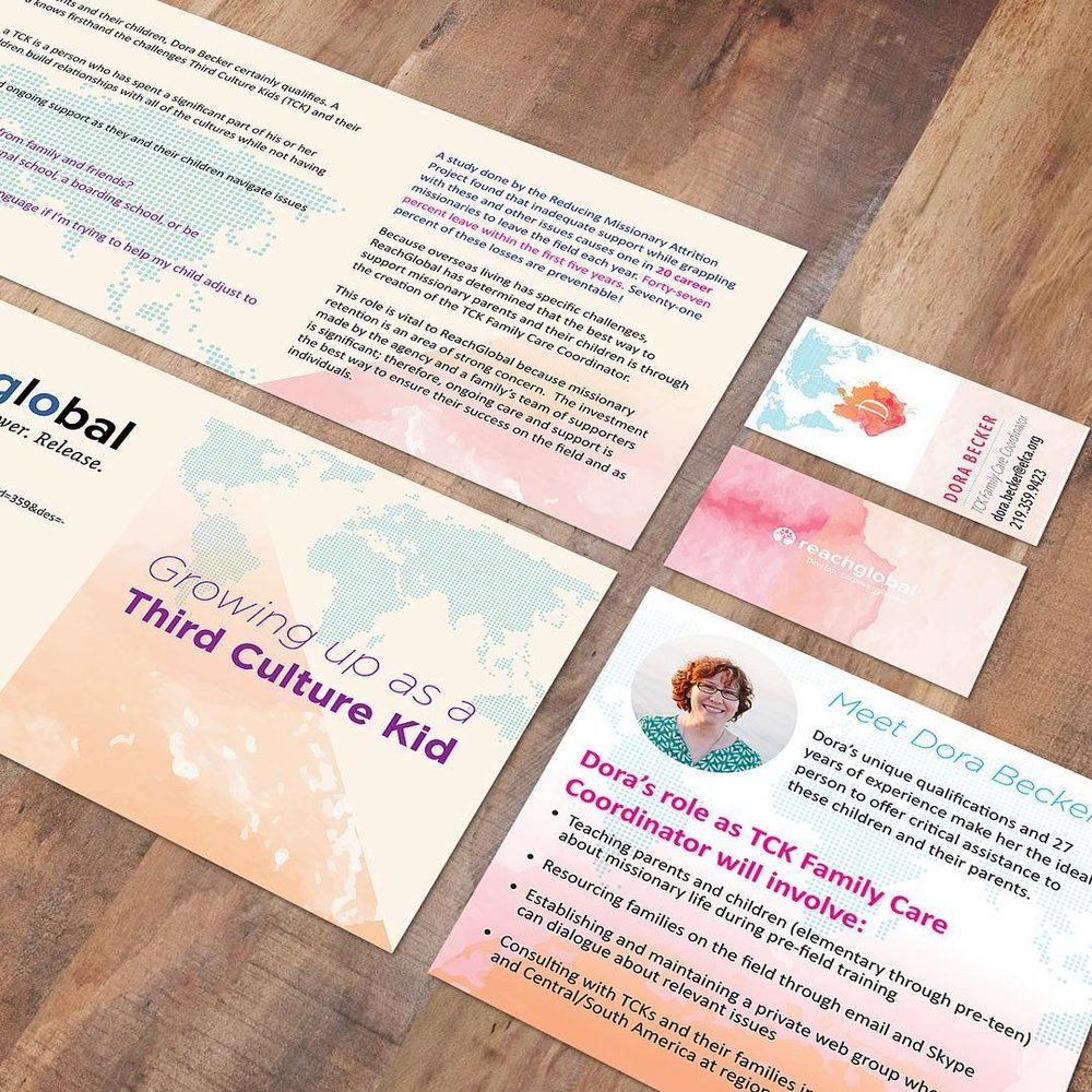 "Communication Suite - Fair Market Value: $800 – $1600 | Minimal Donation: $200-$400Custom designed business card, letterhead, informational/donation rack card, and/or ministry brochure.Finished designs will be emailed ""print-ready"".*printing not included*variables on cost include: Copy Editor or Writing Ambassador services, stock image purchases, or custom dimensions."
