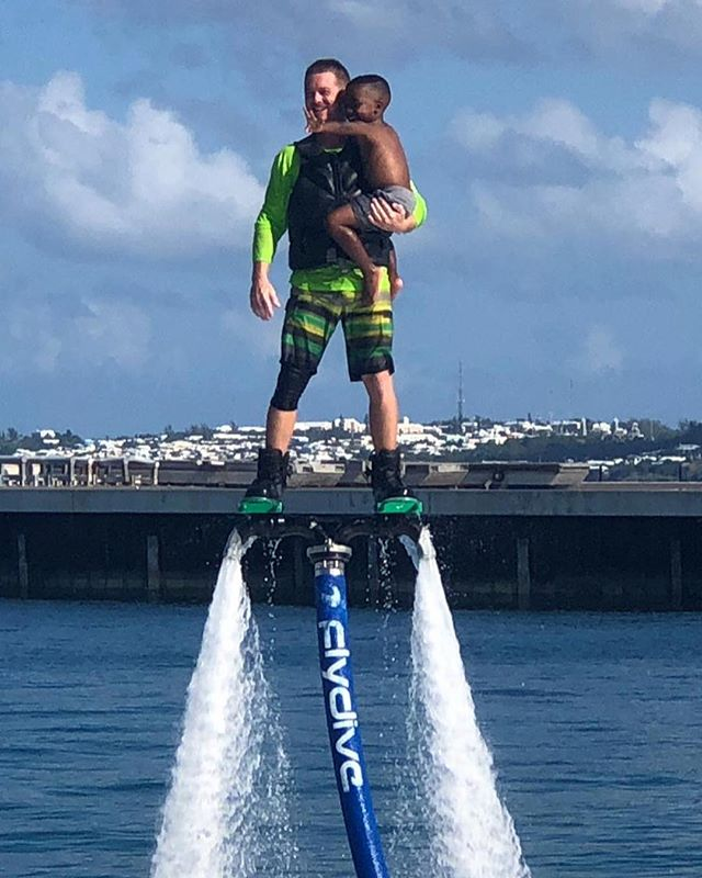 Ronnie gave this eager kid the ride of his life yesterday at the Bermuda Poseidon Games Exhibition ... its all about showing future generations the thrill to create some sustainability in the industry #poseidongames #hydroflight #savvyentertainment #exhibition