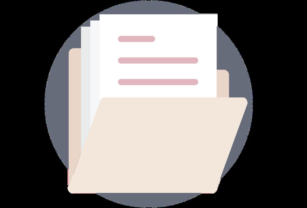 Square Secrets page content planners file folder icon