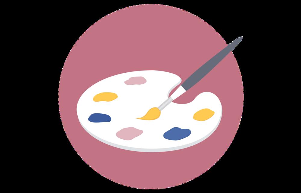 Square Secrets graphics training paintbrush icon