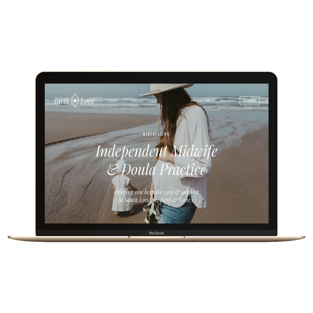 squarespace website on macbook
