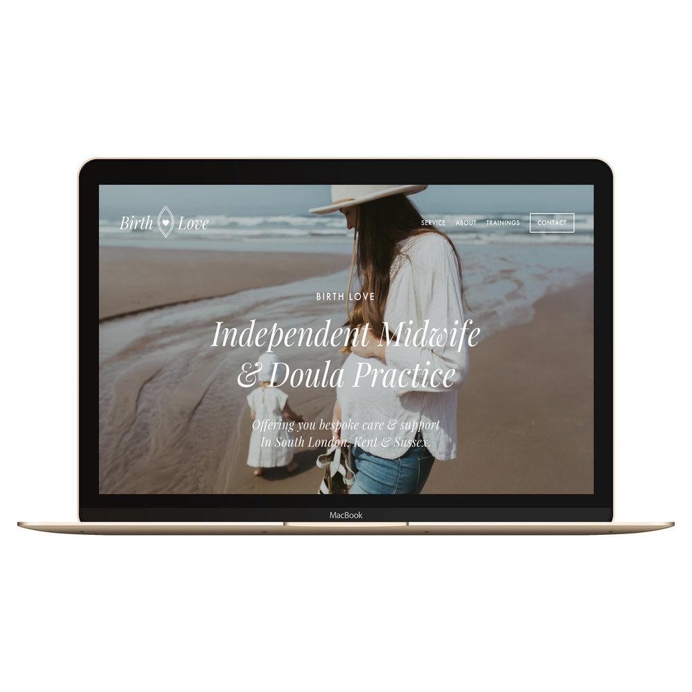 Copy of Copy of squarespace website on macbook