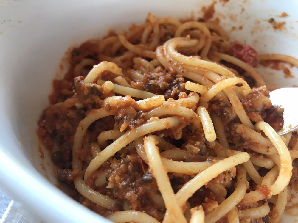 Bart's Better Foods all-plant 'meatball' flavor tastes great in bolognese.