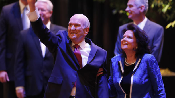 President Nelson and his wife, from KSL.com