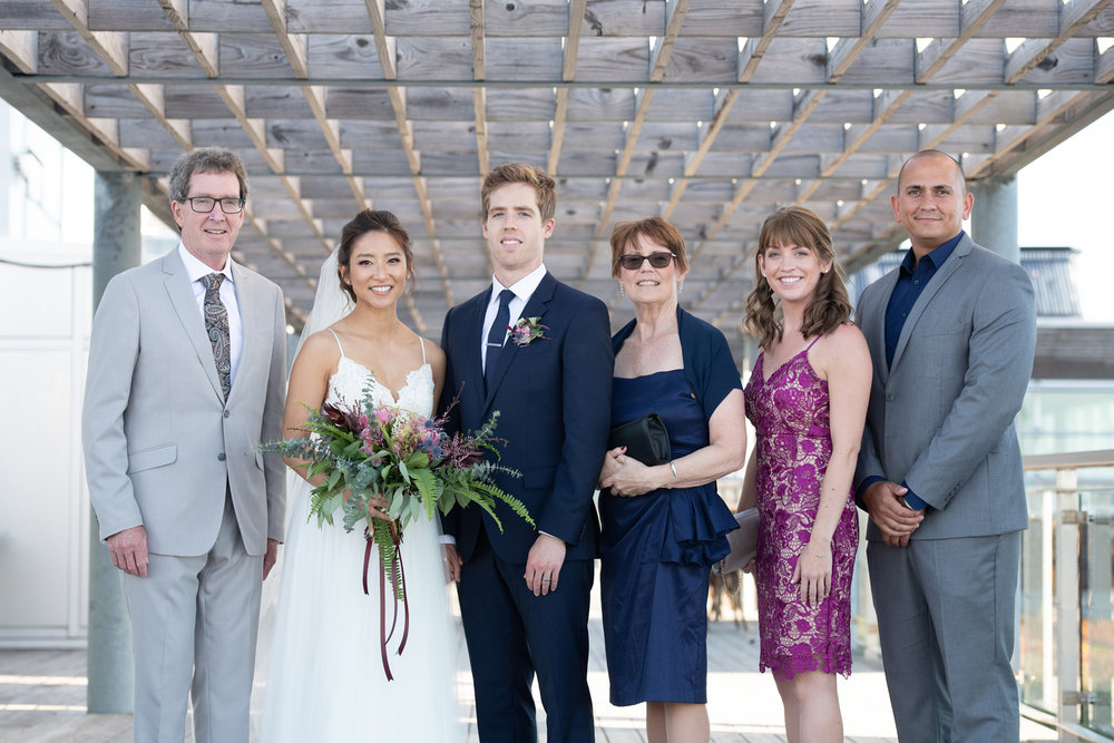 We did these family photos right at the ceremony site, on top of the Halifax Seaport Farmers Market...was great light and ended up working great and didn't take up much time at all!