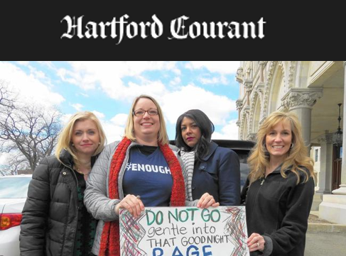 Participants Share Thoughts During March For Our Lives - Eleni Kavros DeGraw, Valerie Horsley, Janee Woods, and Christine Rosati Randall turned out for the event. DeGraw, Horsley, and Rosati Randall are running for public office. Hartford Courant, April 3, 2018. READ MORE ...